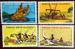 Papua New Guinea 1975 Native Canoes MNH - Papouasie-Nouvelle-Guinée