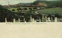 China, HONG KONG, Buildings Factories Happy Valley Race Course (1910s) Postcard - China (Hong Kong)