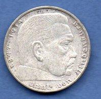 Allemagne  - 2 Reichsmark 1939 A  --  état  TTB+ - 2 Reichsmark