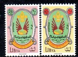 APR1452 - LIBIA LYBIA 1966 , Yvert N. 294+295  ***  MNH (2380A) . SCOUT - Libia