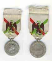 NAPOLEON III. MEDAILLE EXPEDITION DU MEXIQUE 1862-1863. ARGENT. ETAT TTB+ - Medals
