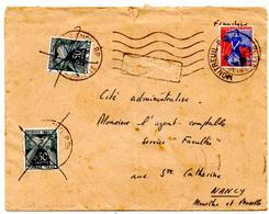 Lettre De Montreuil SECAP (31.03.1960) Pour Nancy Taxée à 1 F Retour Refusé Timbre Taxe - Marcophilie (Lettres)