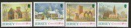 JERSEY, 1990 XMAS CHURCHES 4 MNH - Jersey