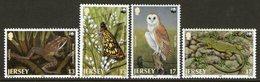 JERSEY, 1989 WWF ENDANGERED ANIMALS 4 MNH - Jersey