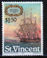 St.Vincent 1981 Single $1.50 Stamp From The Sailing Ships Set. - St.Vincent (1979-...)