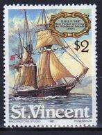 St.Vincent 1981 Single $2 Stamp From The Sailing Ships Set. - St.Vincent (1979-...)