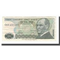 Billet, Turquie, 10 Lira, L.1970, KM:192, TTB - Turkey