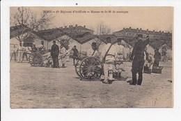 CPA  MILITARIA NIMES 30 19e Regiment D'artillerie Manoeuvre Du 80 De Montagne - Regimientos