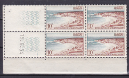 N° 978 Série Touristique: Royan :  Beau Bloc De 4 Timbres Neuf Impeccable Coins Datés 15.6.54 - 1950-1959