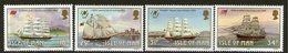 ISLE OF MAN, 1988 SAILING SHIPS 4 MNH - Isle Of Man