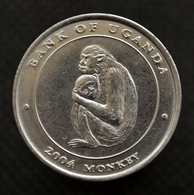 Uganda 100 Shillings 2004 (Year Of The Monkey) COIN UNC. Km203 - Oeganda