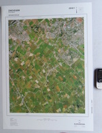 GROTE LUCHT-FOTO ZWEVEGEM LANGEMUNTE KREUPEL In 1990 48x67cm KAART 1/10.000 ORTHOFOTOPLAN PHOTO AERIENNE LUCHTFOTO R760 - Zwevegem