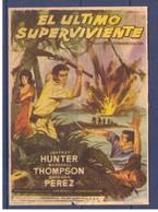 Programa Cine. Jeffrey Hunter. El Ultimo Superviviente. 1962. EEUU. Publicidad Cine Paris Tanger Marruecos. Estado Medio - Posters
