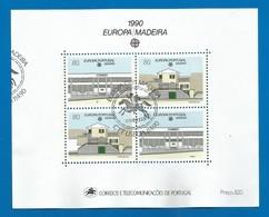 Portugal / Madeira 1990 Mi.Nr. Block 11 (133 / 134 ) , Europa CEPT Postalische Einrichtungen - Gestempelt / Used / (o) - Europa-CEPT