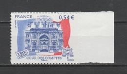 FRANCE / 2007 / Y&T N° 4028A ** Ou AA 117 ** : Cour Des Comptes (adhésif) X 1 BdF D - état D'origine - Frankreich