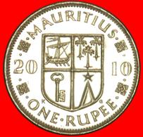 + SHIP: MAURITIUS ★ 1 RUPEE 2010 MINT LUSTER! LOW START ★ NO RESERVE! - Mauritius