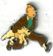 Pin's BD Tintin Kuifje Milou (signé Lombard Hergé Corner Coinderoux N° 77) - BD