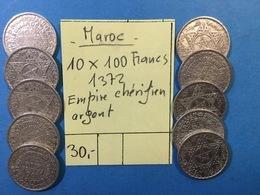 10 X 100 Francs 1372 - Empire Chérifien Argent - Marruecos