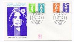 FDC France 1990 - Marianne Du Bicentenaire (Briat) - YT 2620 - 2621 -2625 Et 2626 - Paris - FDC