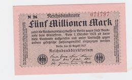 Billet De 5 Millions Mark  De  20-8-1923  Pick 105  Neuf Uniface - [ 3] 1918-1933 : Repubblica  Di Weimar
