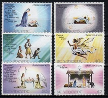 St.Vincent 1979 Set Of Stamps To Celebrate Christmas Scenes. - St.Vincent (1979-...)