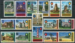 Barbados 1970. Michel #297/312 MNH/Luxe. Architecture. Constructions (B26) - Barbados (1966-...)