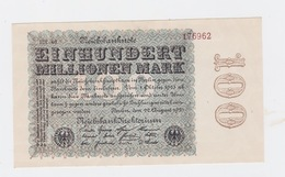 Billet De 100 Millions Mark  De  22-9-1923  Pick 107  Neuf Uniface - [ 3] 1918-1933: Weimarrepubliek
