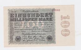 Billet De 100 Millions Mark  De  22-9-1923  Pick 107  Neuf Uniface - 20 Milliarden Mark