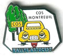 Pin's Voiture Automobile Citroën 2 CV 2 Chevaux COS Montreuil - Citroën