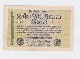 Billet De 10 Millions Mark  De  22-9-1923  Pick 106   Uniface - [ 3] 1918-1933: Weimarrepubliek