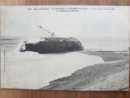 Baie D'audierne.le Naufrage Du Trois Mats Morutier Sur La Côte De Treguennec Plovan.édition Villard - Other Municipalities