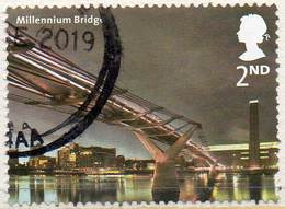 GREAT BRITAIN 2002 Bridges Of London. 2nd Class NVI Millennium Bridge - Used Stamps