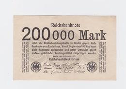 Billet De 200 000 Mark Du 9-8-1923 Uniface   Pick 100 - [ 3] 1918-1933 : République De Weimar