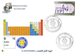 DZ Algeria 1836 2019 Anno Internazionale Della Tavola Periodica Degli Elementi Chimici Dmitry Mendeleev Chimica Zolfo - Chimica