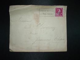 LETTRE TP 1F50 Surch. -10% OBL.MEC.24 VI 1946 VERVIERS + LE MARCHE NOIR MENACE LA PAIX SOCIALE + EXP LT COLONEL LETOCART - Postmark Collection