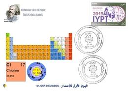 DZ Algeria 1836 2019 Anno Internazionale Della Tavola Periodica Degli Elementi Chimici Dmitry Mendeleev Chimica Cloro - Chimica