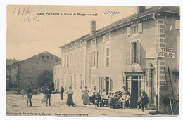 BEGNECOURT - CAFE PREVOT ET MAIRIE DE BEGNECOURT (C P RECOUPEE) - France