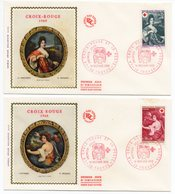FDC France 1968 - Croix Rouge 1968 YT 1580 & 1581 - 10 Troyes - FDC