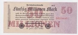 Billet De 50 Million Mark Du 25-7-1923 Uniface   Pick 98b - [ 3] 1918-1933 : République De Weimar