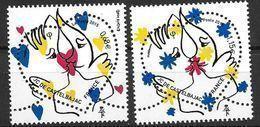 France 2015 N° 4924/4925 Neufs Saint Valentin De Castelbajac, à La Faciale - France