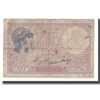 France, 5 Francs, 1933, 1933-09-14, B, Fayette:03.17, KM:72e - 1871-1952 Antiguos Francos Circulantes En El XX Siglo