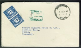 Ref 1307 - 1966 GB Postage Due Cover Salisbury To Coventry - 8d To Pay - Tasse