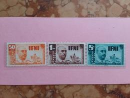 EX COLONIE SPAGNOLE - IFNI - Nn. 54/56 Nuovi ** (puntini Di Ruggine) + Spese Postali - Ifni