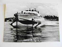 LAGO  DI  GARDA   NAVE SHIP ALISCAFO FRECCIA DEL GARDA NON VIAGGIATA PERFETTA FOTOGRAFICA - Commercio