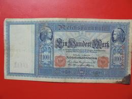100 MARK 1908 ALPHABET B CIRCULER (B.4) - [ 2] 1871-1918 : German Empire