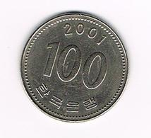 //  ZUID KOREA 100 WON 2001 - Corée Du Sud