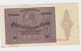 Billet De 5 Million Mark Du 1-6-1923 Uniface   Pick 90 Neuf Mais  Tache - Otros