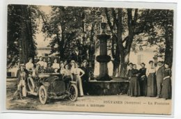 12 SYLVANES Automobile Et Villageois Fontaine Animation Edit Grand Bazar A  Bertrand  1920   D09 2019 - Altri Comuni