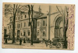 12 MILLAU Attelage Ane Cariole Transport Bois Rue Du College 1904 écrite Timb  Edit Du Grand Bazar Parisien   D09 2019 - Millau
