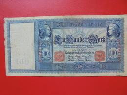 100 MARK 1910 ALPHABET: A CIRCULER (B.4) - [ 2] 1871-1918 : German Empire